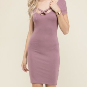Dusty Plum Bodycon Dress